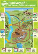 Affiche de sensibilisation à la biodiversité sur les chantiers de Travaux Publics